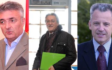 Miodrag Vlahović, Nebojša Kaluđerović i Željko Perović