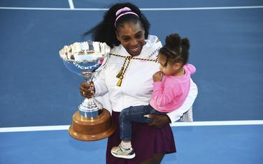 Serena Vilijams sa kćerkicom Aleksis Olimpijom