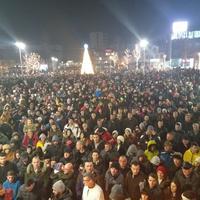 Sa večerašnje litije u Nikšiću