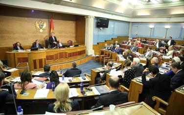 Detalj iz Skupštine Crne Gore