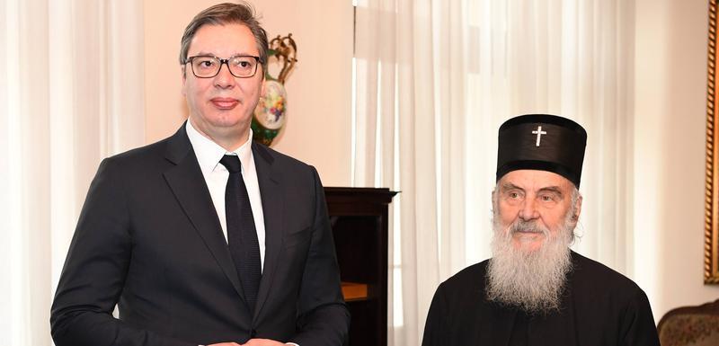 Patrijarh SPC Irinej i predsjednik Srbije Aleksandar Vučić