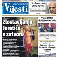 """Naslovna strana """"Vijesti"""" za 15. januar 2020. godine"""