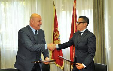 Sa potpisivanja ugovora za PBG1: Radunović i Salinas