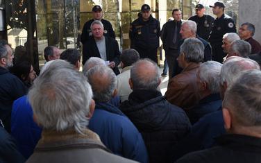 Sa ranijeg protesta dakićevaca ispred Ustavnog suda