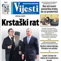 Naslovna strana za subotu 18. januar
