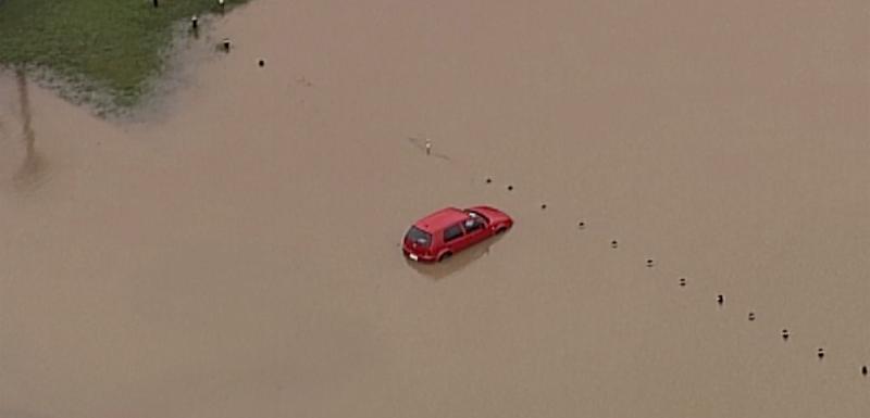 Detalj iz dijela Australije pogođenog poplavama