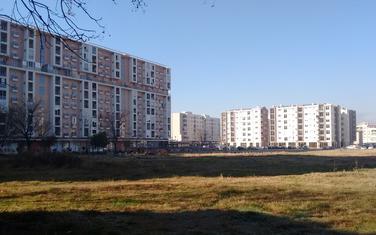 Lokacija budućeg vrtića u Bloku 6, pogled u pravcu zapada