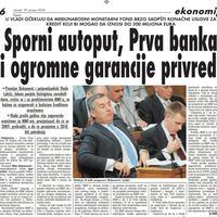 """Strana """"Vijesti"""" od 19. januara 2010."""