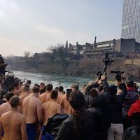 Plivanje za časni krst u Podgorici