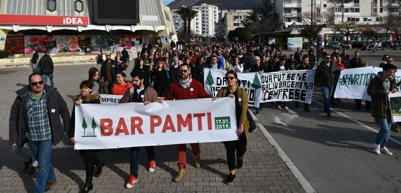 Sa jednog od protesta u Baru