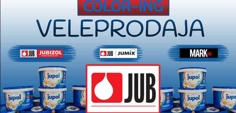 COLOR-ING - distributer JUB proizvoda za Crnu Goru