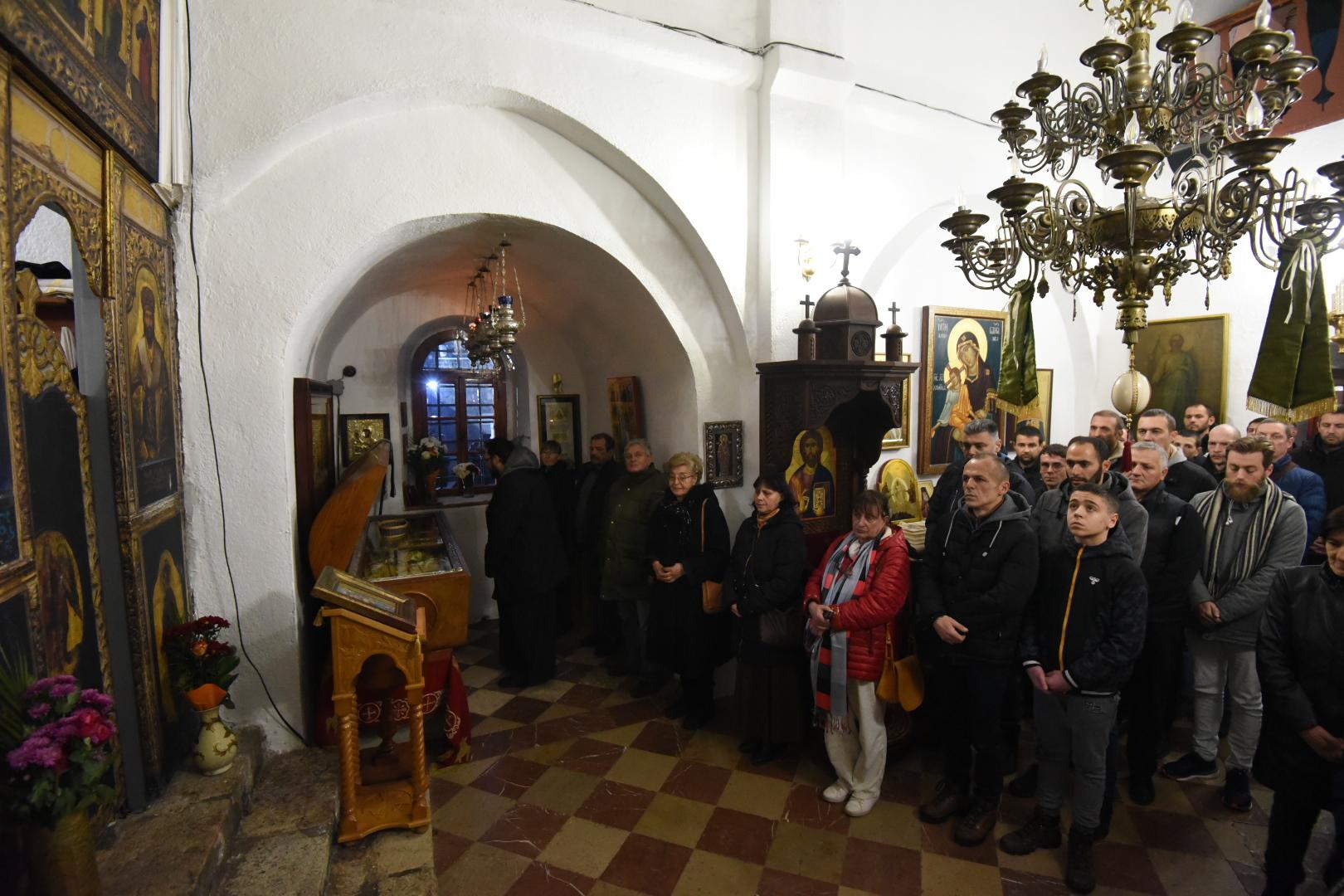 Moleban u Cetinjskom manstiru