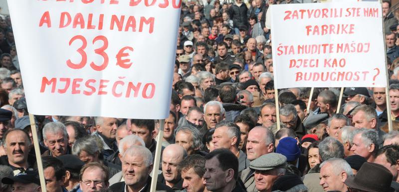 Sa ranijeg protesta radnika nezadovoljnih ekonomskom situacijom