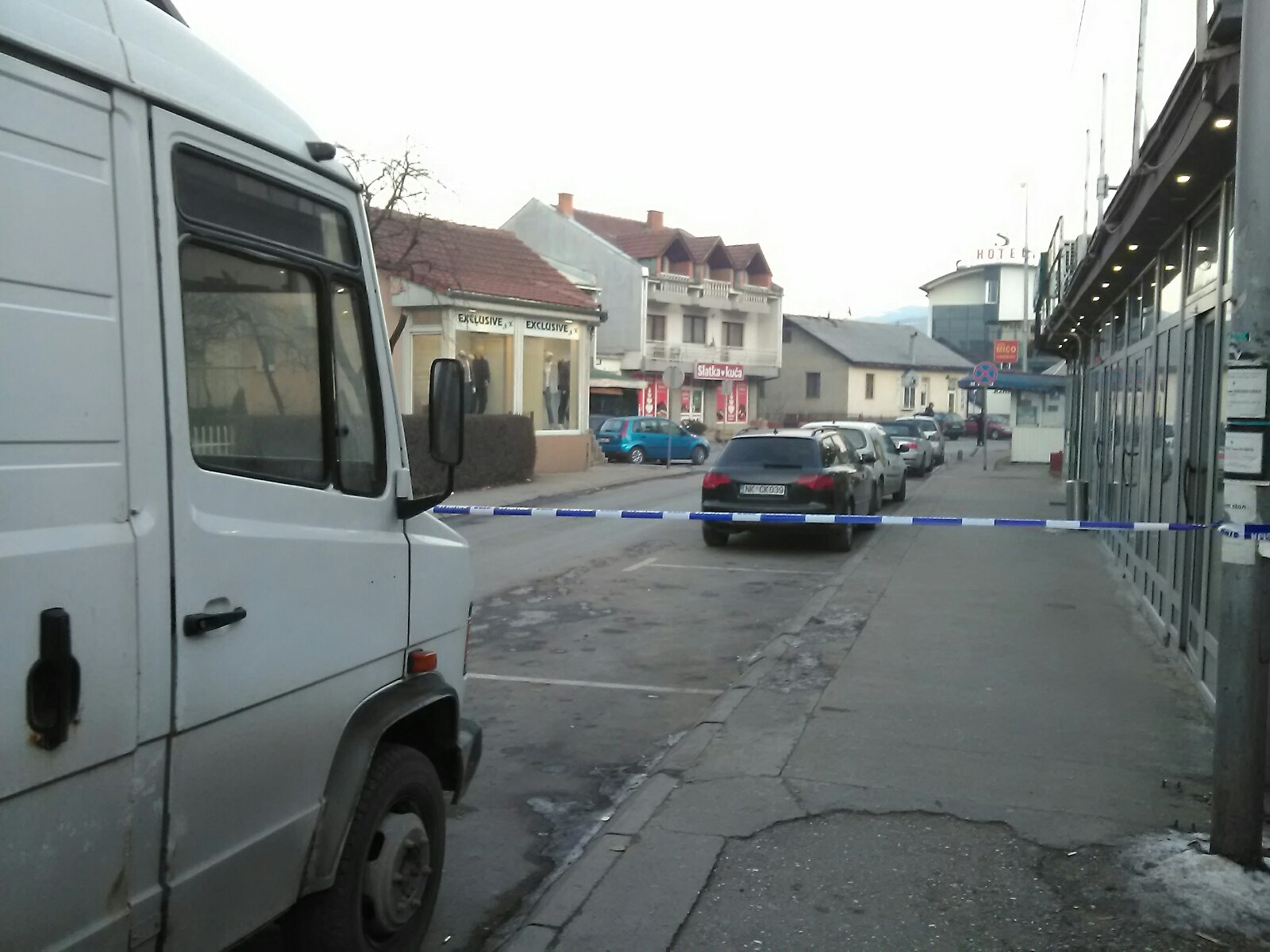 Berane, Ulica Dušana Vujoševića gdje se nalazio automobil sa eksplozivom