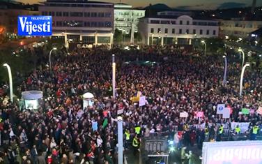 Sa građanskih protesta u Podogrici prošle godine