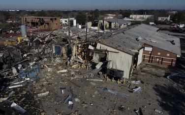 Detalj sa mjesta eksplozije