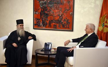 Sa sastanka mitropolita Amfilohija i Duška Markovića