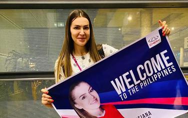 Tanja Bokan po dolasku na Filipine