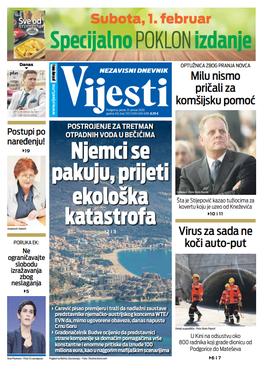 Naslovna strana Vijesti za 31. 01. 2020. godine