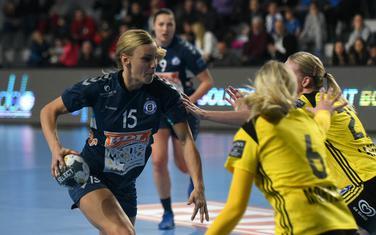 Barbara Lazović na utakmici sa Savehofom