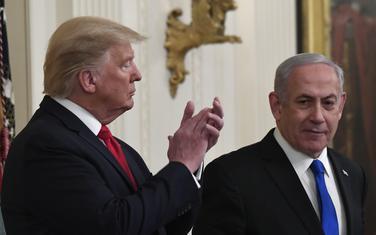 Tramp predstavlja plan u društvu izraelskog premijera Benjamina Netanjahua