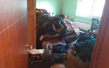 Jedna od prostorija u porodičnoj kući Kneževića nakon pretresa
