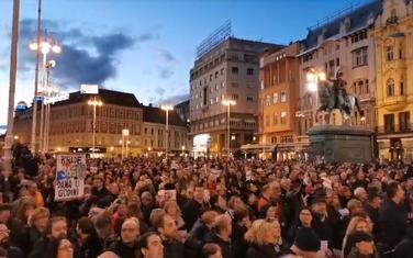 Sa protesta u Zagrebu