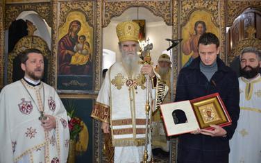 Gojko Perović, mitropolit Amfilohije i Vladimir Gojković