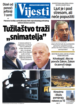 """Naslovna strana """"Vijesti"""" za treći februar 2020. godine"""