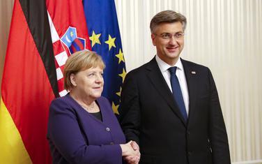 Njemačka kancelarka Angela Merkel i hrvatski premijer Andrej Plenković