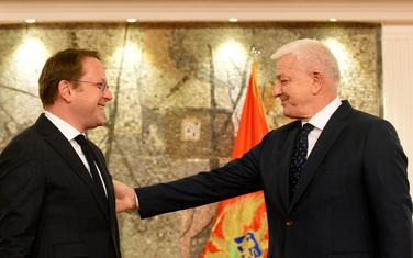Evropski komesar Oliver Varhelji i premijer Duško Marković