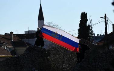 Srpska zastava na Starom gradu u Podgorici
