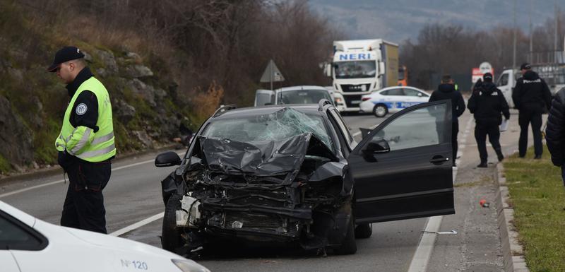 Sa mjesta nesreće na putu Podgorica - Danilovgrad