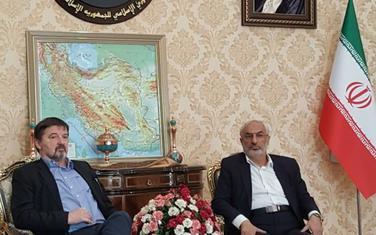 Miodrag Vuković tokom posjete Iranu