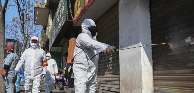 Dezinfekcija radnji u provinciji Hubej
