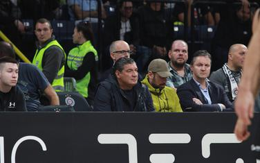 Košarkaški agent Miodrag Miško Ražnatović na meču Evrokupa Partizan - Tofaš
