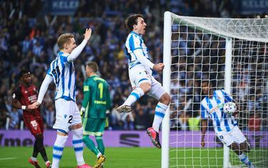 Mikel Ojarzabal slavi gol protiv Mirandesa