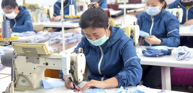 Detalj iz jedne fabrike u Pjongjangu