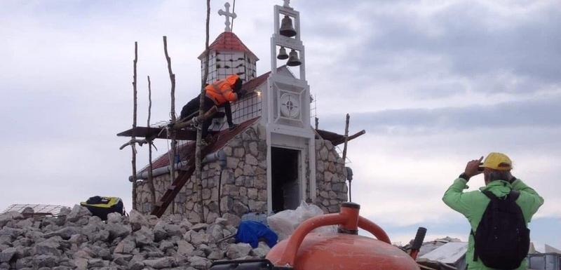 Radovi na crkvi na Rumiji (arhiva)