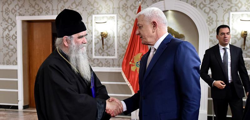 Mitropolit Amfilohije i Duško Marković nakon sastanka