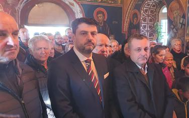 Božović na liturgiji
