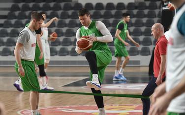 Suad Šehović i Nikola Ivanović na današnjem treningu
