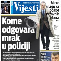 """Naslovna strana """"Vijesti"""" za 18. februar 2020. godine"""