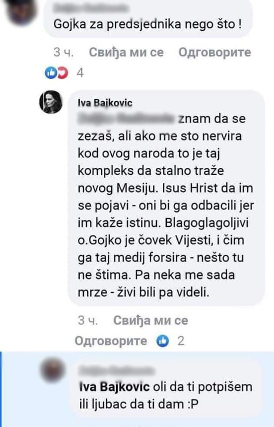 Komentar koji je postavila Bajković