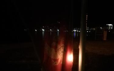 Zapaljena zastava Crne Gore