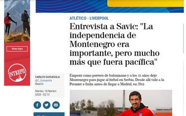 Naslov u El Mundu