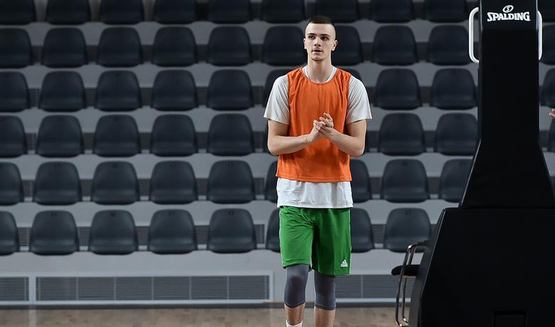 Marko Simonović na treningu reprezentacije