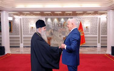 Amfilohije i Marković uoči početka sastanka