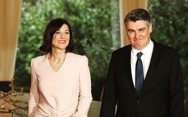 Sanja Musić Milanović i Zoran Milanović na inauguraciji