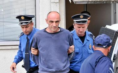 Đikanović nakon što je uhapšen zbog ubistva 2016. godine (arhiva)